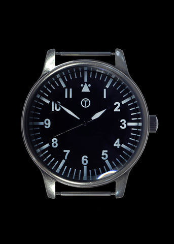 MWC Classic Retro 44mm XL Design Military Watch with 12 Hour Dial Format