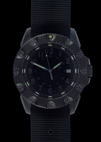 MWC P656 Tactical Series Watch with GTLS Tritium, Subdued Dial, 24 Jewel Automatic Movement and Sapphire Crystal (Date Version)