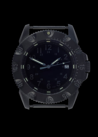 MWC P656 Tactical Series Watch with Subdued Dial, GTLS Tritium and Ten Year Battery Life (Date Version)