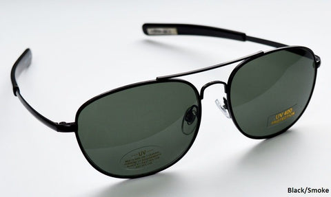Military Aviator/Police Sunglasses with Smoke Lenses - LAST FEW PAIRS TO CLEAR AT UNDER HALF THE NORMAL PRICE