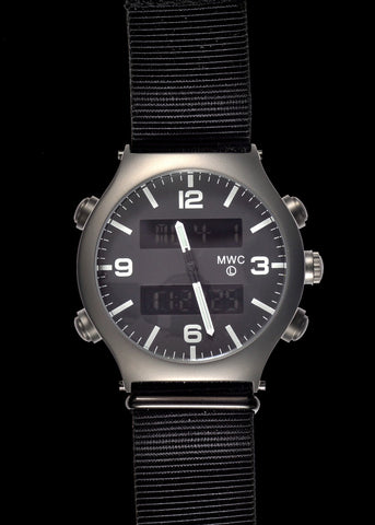 MWC MIL-TEC MKIV Stainless Steel Military Pilots Chronograph