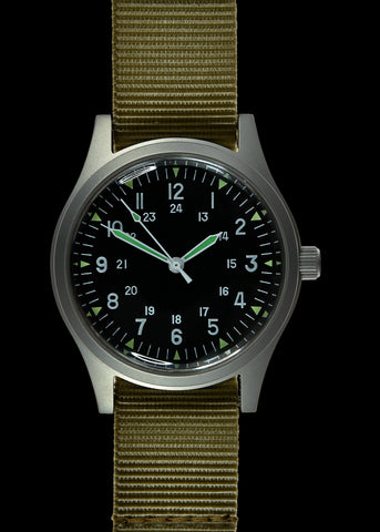 MWC G10 Hand Winding 24 Jewel (100m Water Resistant) General Service Military Watch