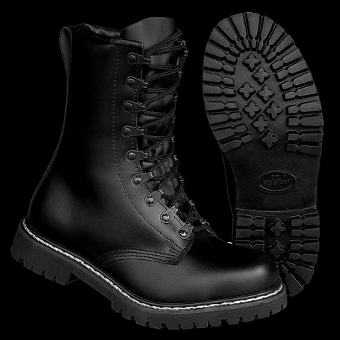 High Quality German Pattern Leather Paratroopers Boots (Springerstiefel) Size 42 / UK 8 Ex Display