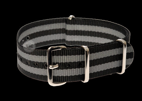 "18mm PVD ""Bond"" NATO Military Watch Strap"