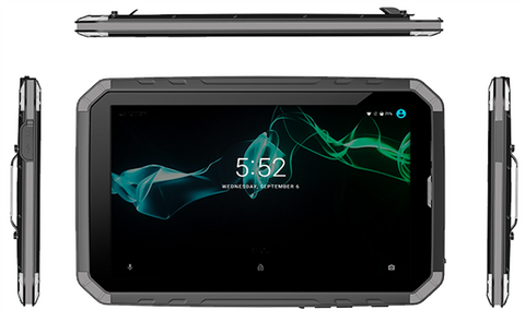 "Fieldbook KS80 - Rugged 8"" tablet, Android 7, WiFi 802 a/b/g/n, bluetooth 4, GPS, 4G, NFC"