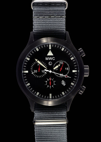 MWC MIL-TEC MKIV PVD Stainless Steel Military Pilots Chronograph