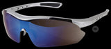 Tactical Military Security/Police Sunglasses with Blue Polycarbonate Mirror Lenses