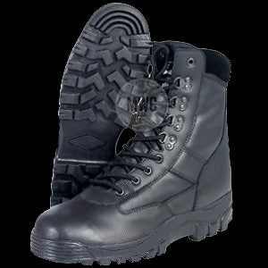 All Leather High Quality Black Tactical Police / Security Boots