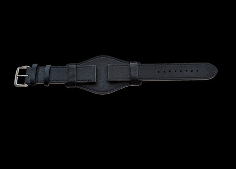 2 Piece 20mm Grey NATO Military Watch Strap in Ballistic Nylon with Black PVD Steel Fasteners