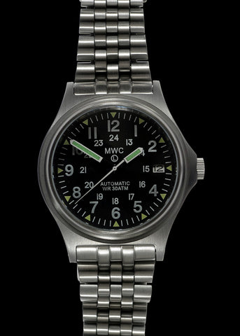 MWC G10 Automatic 300m / 1000ft Water resistant 12/24 Hour Steel Military Watch with Sapphire Crystal on Bracelet
