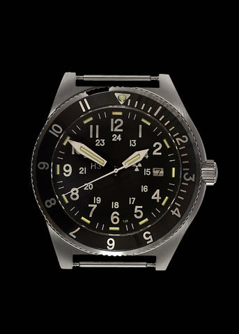 MWC 300m Water Resistant Stainless Steel Tritium GTLS Navigator Watch - Ex Display Watch Save 50%