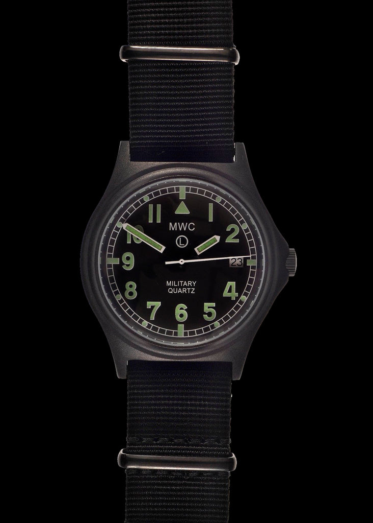 MWC G10 100m PVD Stealth Military Watch with Screw Crown & Caseback