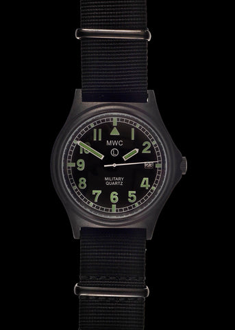 MWC G10LM 12/24 Cover Non Reflective Black PVD Military Watch