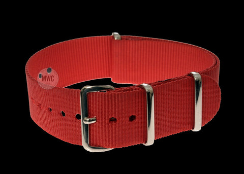 20mm Red NATO Military Watch Strap