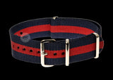 18mm Red and Navy NATO Military Watch Strap