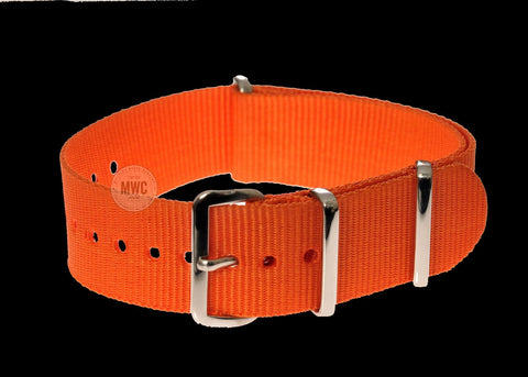"20mm Orange ""High Visibility"" SAR NATO Military Watch Strap"