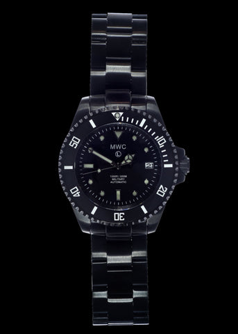 MWC 24 Jewel 300m Automatic Divers Watch with PVD Bracelet, Ceramic Bezel and Sapphire Crystal