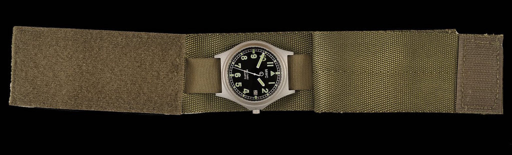 Current US Military Pattern Covered Olive Military Watch Strap