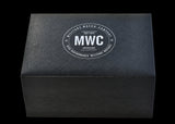 Brand New Current Pattern MWC Watch Box which takes one watch and two additional straps