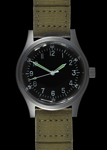 MWC 100m Water Resistant Retro Pattern General Service Watch with Hybrid Mechanical/Quartz Movement