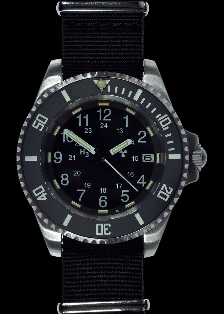 MWC 24 Jewel 300m Automatic Military Divers Watch with Tritium GTLS Illumination, Sapphire Crystal and Ceramic Bezel