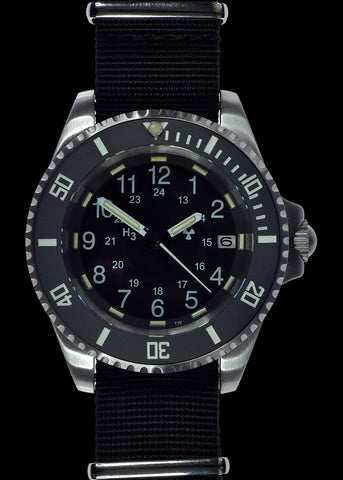 MWC 24 Jewel 300m Automatic Military Divers Watch on Bracelet with Tritium GTLS, Sapphire Crystal and Ceramic Bezel