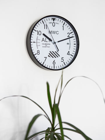 MWC Limited Edition Altimeter Wall Clock with White Dial