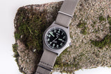 MWC G10 50m (165ft) Water Resistant NATO Pattern Military Watch with Fixed Strap Bars and 60 Month Battery Life