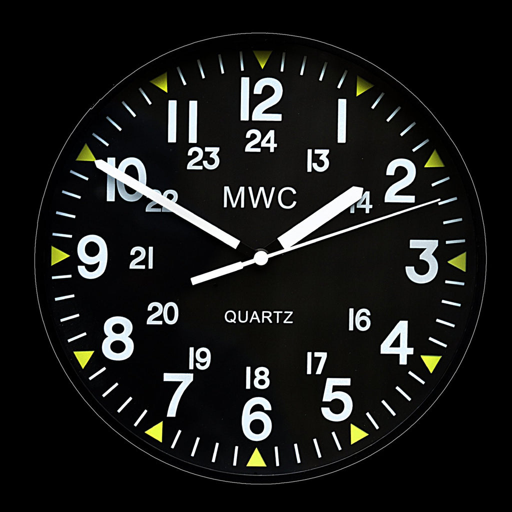 MWC US Military Pattern 12/24 Hour Wall Clock