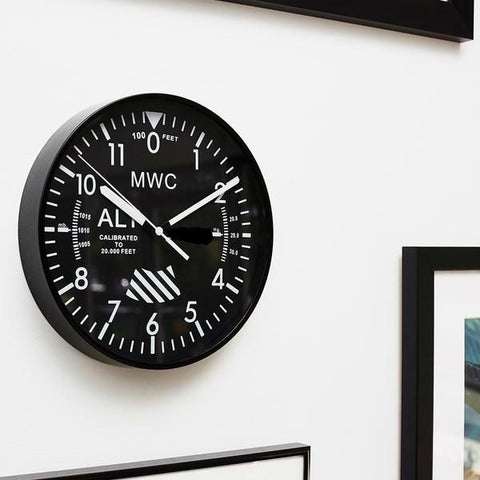 MWC Altimeter Wall Clock