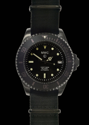 MWC 12/24 Military Divers Watch in Stainless Steel Case (Quartz)