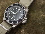 MWC 24 Jewel Automatic Military Specification Divers Watch on NATO Webbing Strap