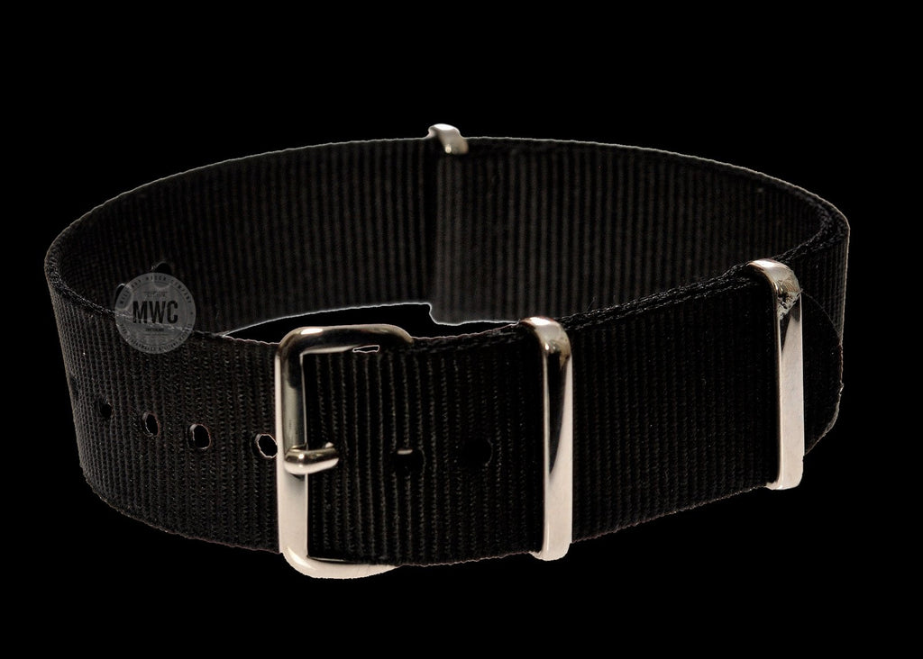 18mm Black NATO Military Watch Strap