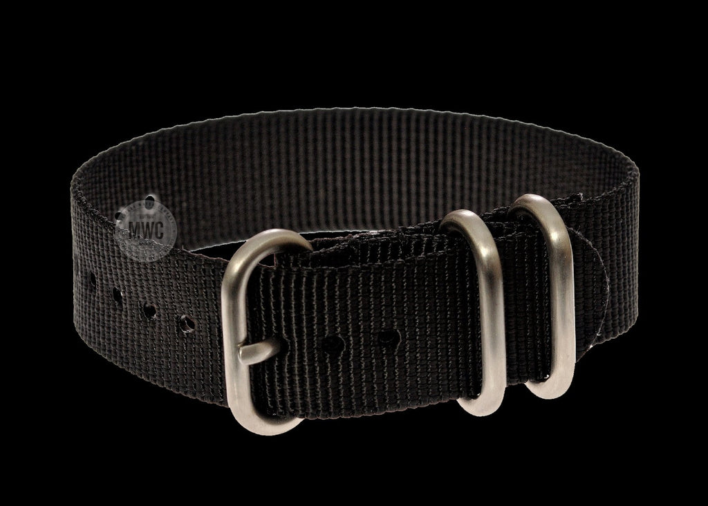 20mm Black Zulu Pattern Military Watch Strap