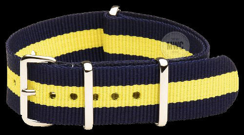 18mm Blue and Yellow NATO Military Watch Strap
