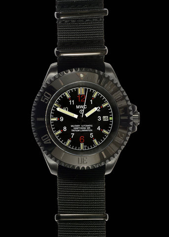 MWC Limited Edition 24 Jewel 300m PVD Automatic Military Watch with Tritium GTLS