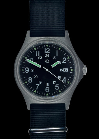 MWC G10 LM Stainless Steel Military Watch with 12/24 Hour Dial
