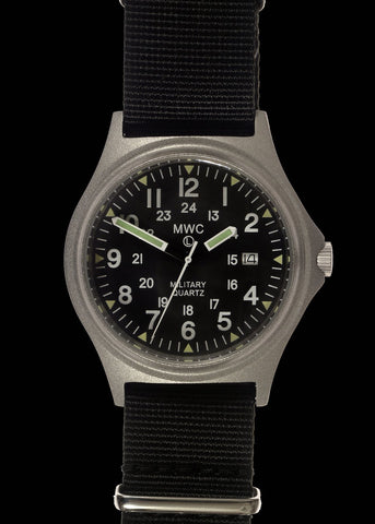 G10 100m Water resistant Military Watch with 12 Hour NATO Pattern Dial in Stainless Steel Case with Screw Crown (Unbranded)