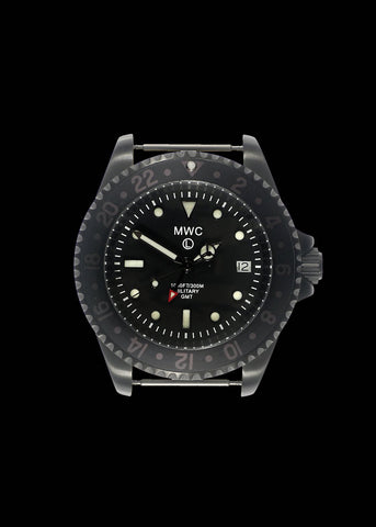 MWC GMT (Dual Time Zone) PVD Military Watch on Matching Steel Bracelet