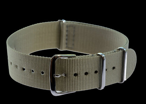 "20mm German ""Luftwaffe / Bund"" Aviators Leather Military Watch Strap"