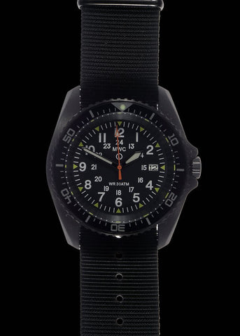 MWC 24 Jewel 300m Automatic Military Divers Watch with Sapphire Crystal  on Steel Bracelet