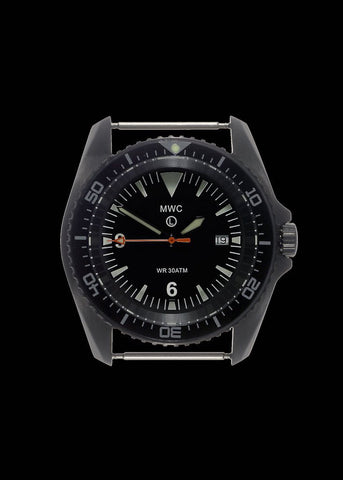 MWC 300m Water Resistant Heavy Duty Military Divers Watch in PVD Steel Case (Quartz)