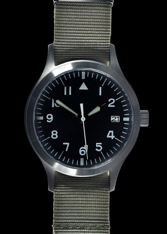 MWC Mk III Stainless Steel 1950's Pattern 100m Water Resistant Automatic Military Watch with Sapphire Crystal (Unbranded Variant)