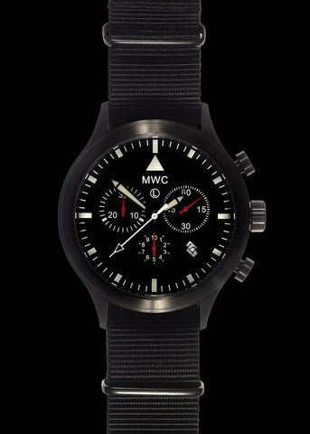 MWC NATO Pattern Stainless Steel Hybrid Military Pilots Chronograph
