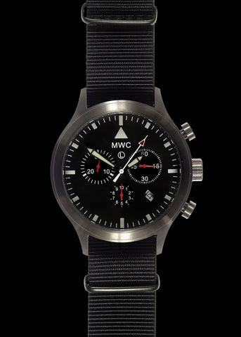 MWC MIL-TEC MKIV PVD Stainless Steel Military Pilots Chronograph - Reduced to Clear