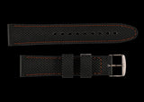 MWC 20mm Silicone Watch Strap with Orange Stitching