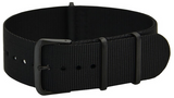 22mm Black PVD NATO Military Watch Strap
