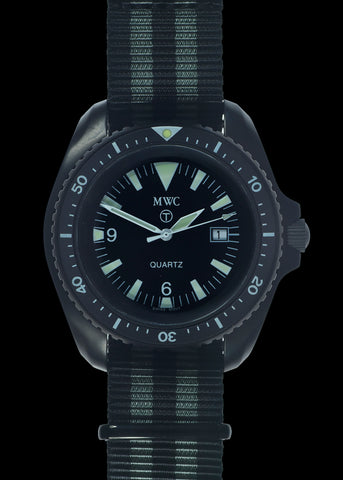 "MWC 1999-2001 Pattern Quartz Military Divers Watch on ""James Bond"" NATO Strap / Brand New & Unissued"