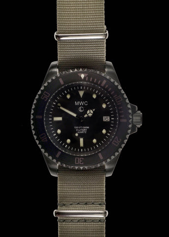MWC 300m / 1000ft PVD Quartz Military Divers Watch