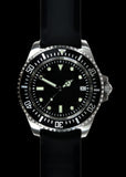 MWC 24 Jewel 300m Water Resistant 24 Jewel Automatic Military Specification Divers Watch on Silicon Strap (Sterile)
